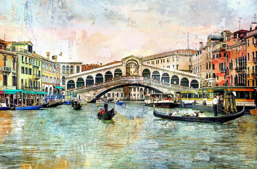3D Фотообои «Венеция маслом»