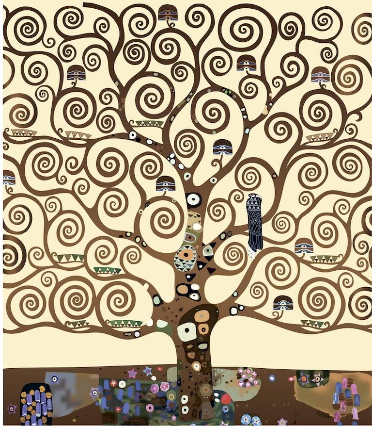 3D Фотообои 3D Фотообои «Климт Густав «Древо жизни»