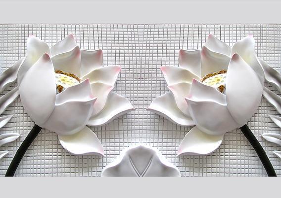3D Фотообои 3D Фотообои  «Лотосы на плитке»