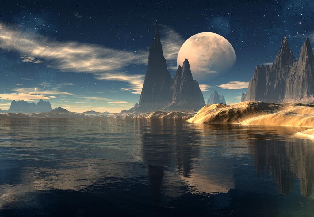 3D Фотообои 3D Фотообои  «Новая планета»