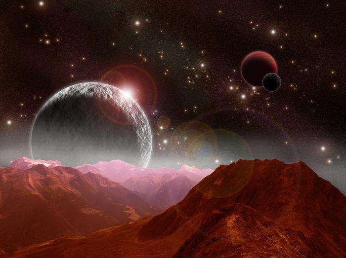 3D Фотообои 3D Фотообои «Вид с красной планеты»