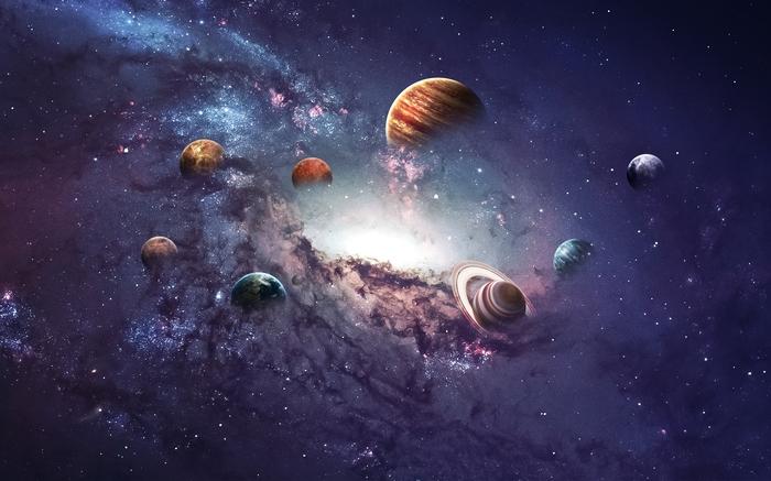 3D Фотообои 3D Фотообои «Парад планет»