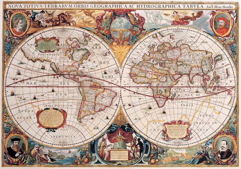 3D Фотообои 3D Фотообои  «Карта мира панно»