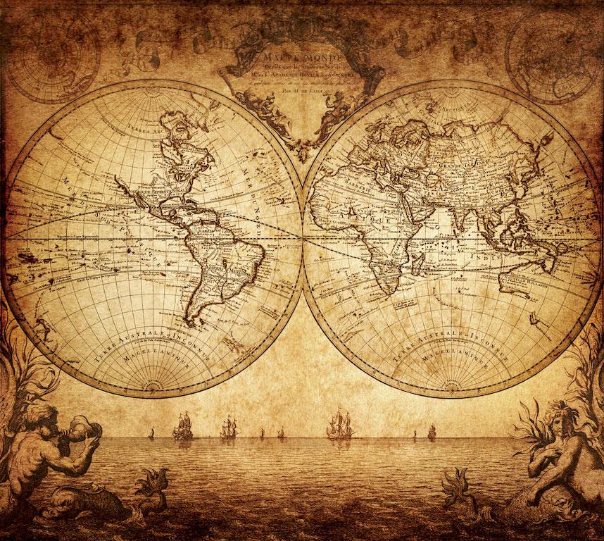 3D Фотообои 3D Фотообои «Старинная карта мира»