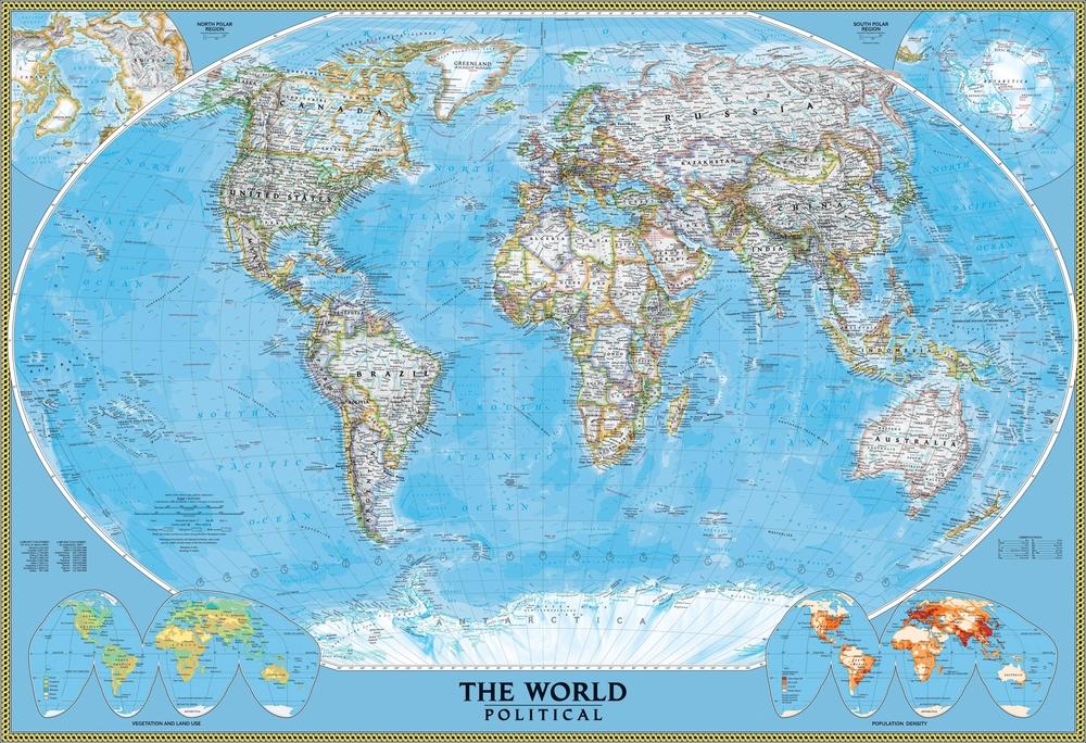 3D Фотообои 3D Фотообои  «Политическая карта мира»