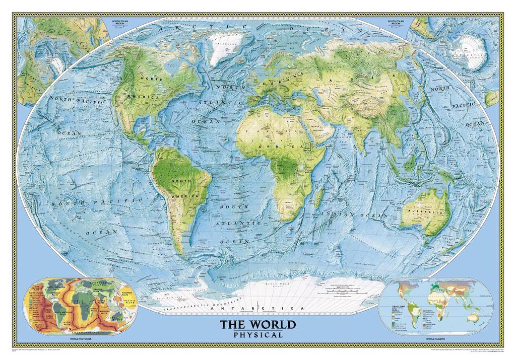 3D Фотообои 3D Фотообои  «Географическая карта мира»