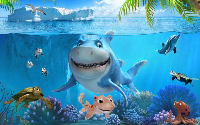3D Фотообои 3D Фотообои «Улыбающиеся рыбки»
