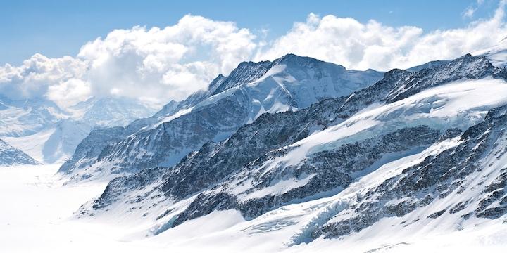 3D Фотообои 3D Фотообои  «Пейзаж в заснеженных горах»