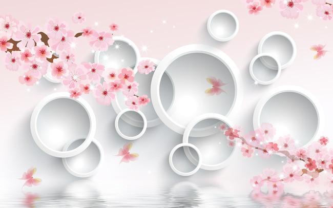 3D Фотообои 3D Фотообои  «Сакура в цвету»
