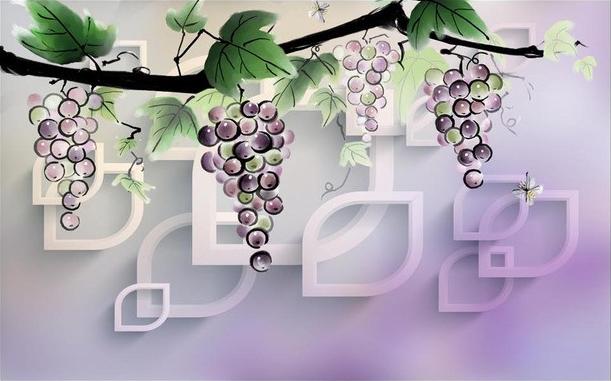 3D Фотообои 3D Фотообои  «Виноградная лоза»