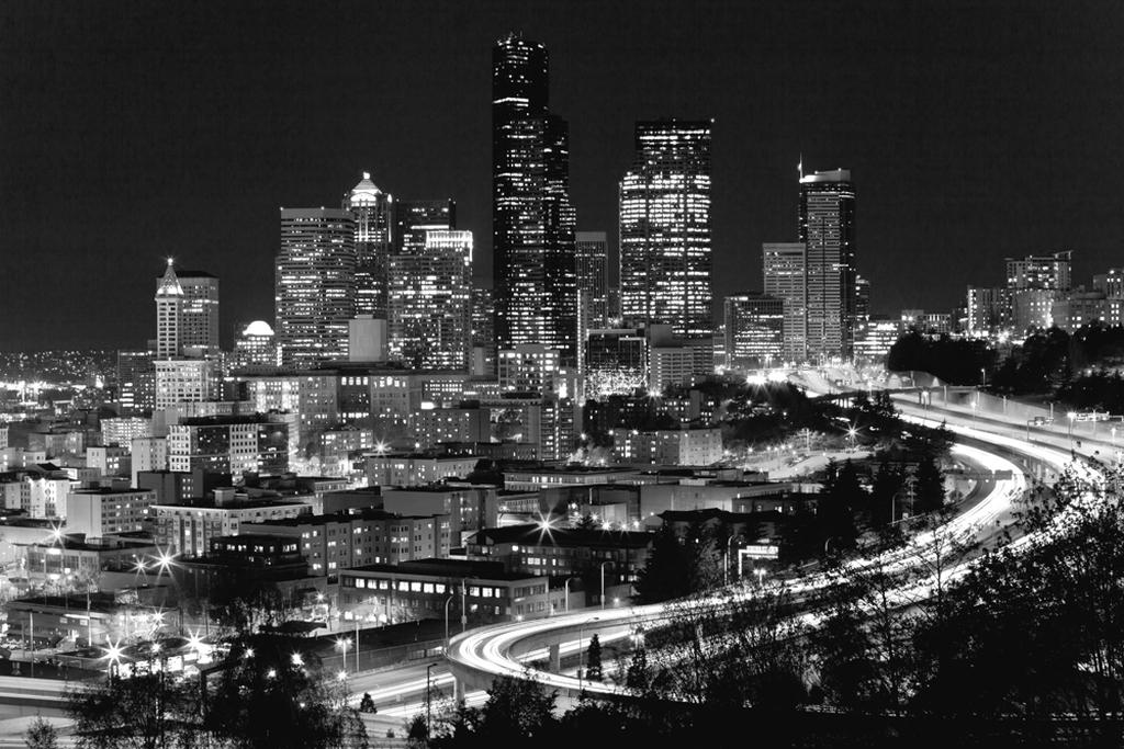 Обои небо, звезды, ночь, мост, city, город, lights, огни ... | 683x1024