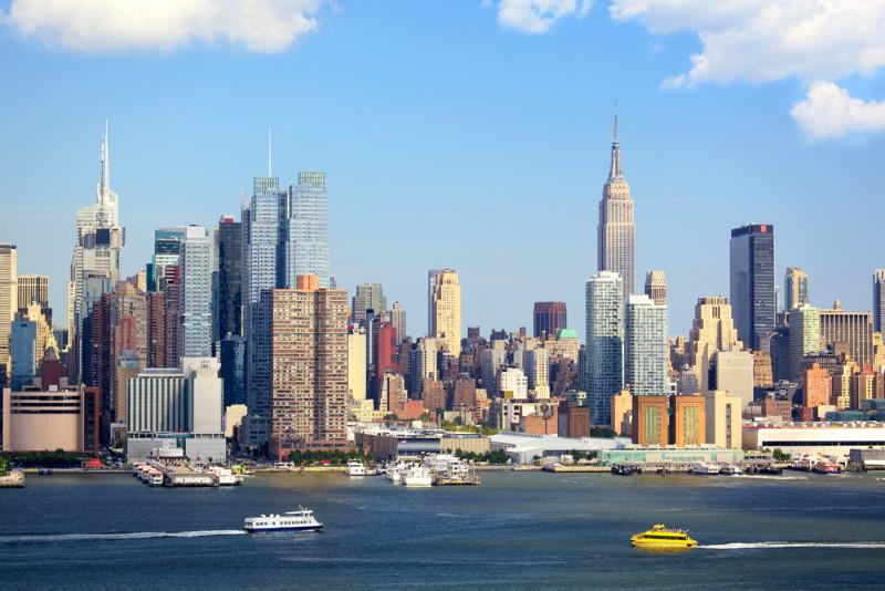 3D Фотообои «С видом Нью-Йорка»