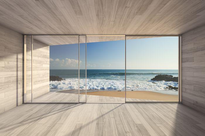 3D Фотообои 3D Фотообои «Вид из окна на прибой»