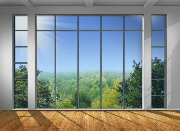 3D Фотообои 3D Фотообои «Окно с видом на зеленый лес»