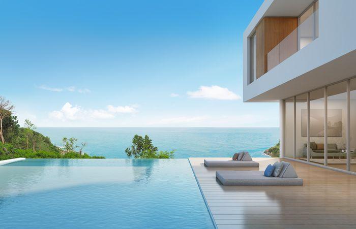 3D Фотообои 3D Фотообои «Терраса с бассейном в современном доме»