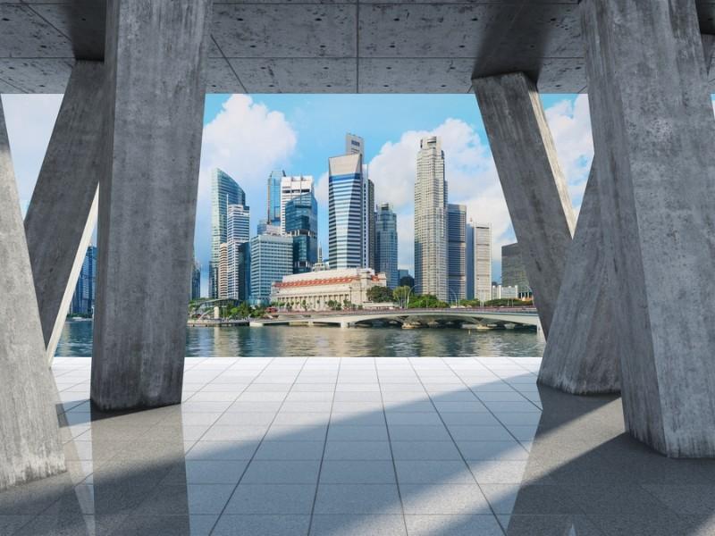 3D Фотообои 3D Фотообои «Мегаполис в холодных тонах»