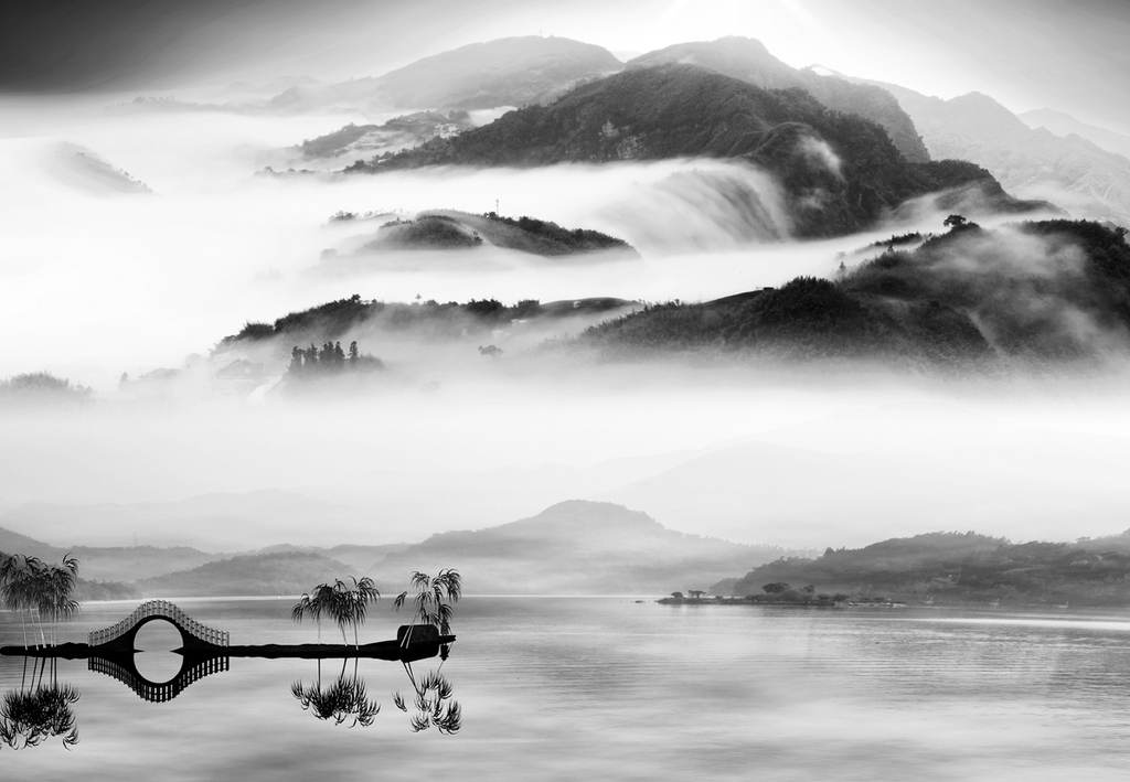 3D Фотообои 3D Фотообои «Японские мотивы: Туман над озером»