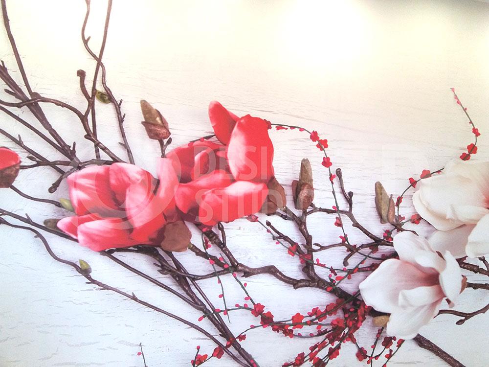 3D Фотообои  «Ветви магнолии»