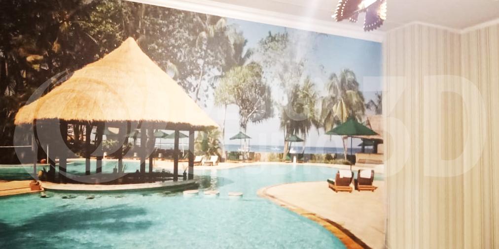 3D Фотообои  «Бассейн Мальдивы»